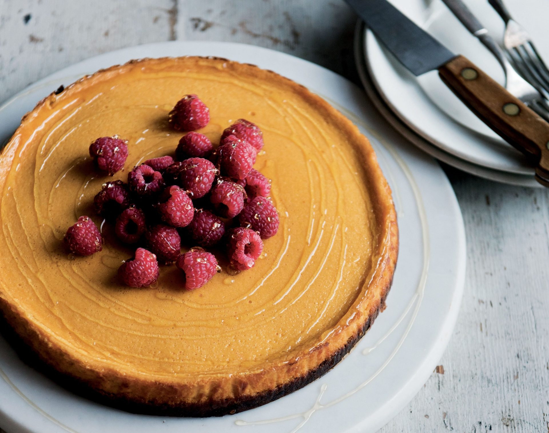 How to make The Midlife Kitchen's pumpkin and ginger cheesecake