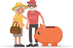 illustration-old-couple-with-piggy-bank