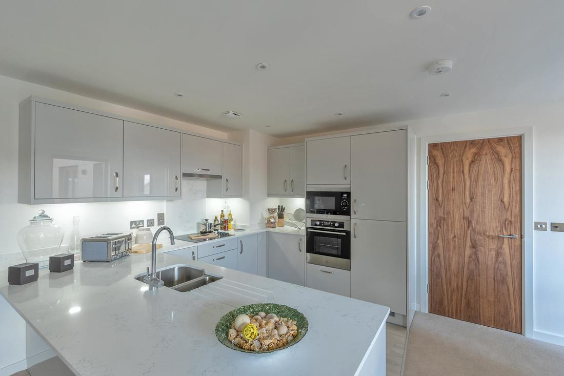 kitchen in showhome at Espirt Poole