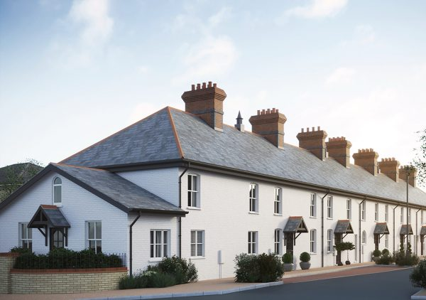 Restored cottages at Old Manor in Salisbury