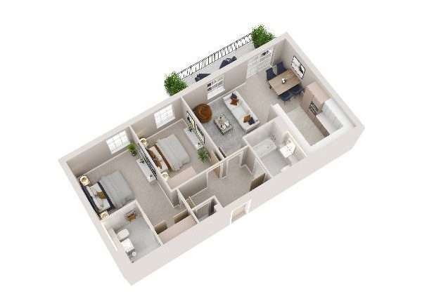 typical layout 2 bedroom apartment sherborne